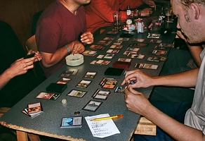 Take a look at Magic The Gathering Deck Builder 12